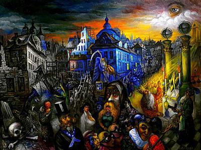 Roussimoff Wall Art - Painting - Eclipse by Ari Roussimoff