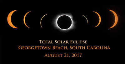 Photograph - Eclipse At Georgetown Beach by Art Cole