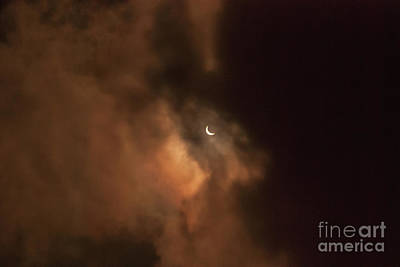 Photograph - Eclipse August 21 2017 by Scott Hervieux