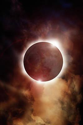 Digital Art - Eclipse Aura by WB Johnston
