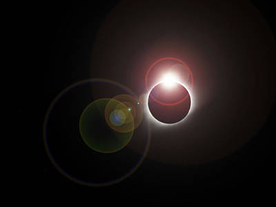 Photograph - Eclipse Diamond Ring With Flare by C H Apperson