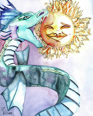 Painting - Eclipse Dragon Sun Eater by D Renee Wilson