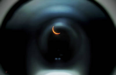 Photograph - Eclipse From Within The Lens by Adam Vance
