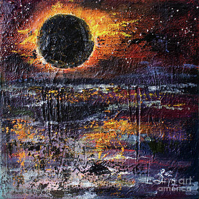 Painting - Eclipse In The Garden Of Good And Evil by Ginette Callaway