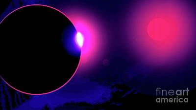 Digital Art - Eclipse Of 2017 by Tim Richards