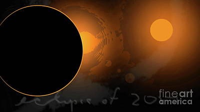 Digital Art - Eclipse Of 2017 W by Tim Richards