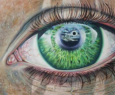 Eclipse Of The Watcher Art Print