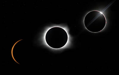 Photograph - Eclipse One Two Three by Art Cole