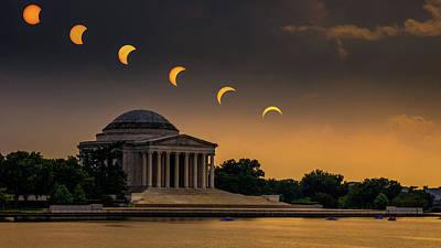 Eclipse Over Jefferson Art Print by Kristen Meister