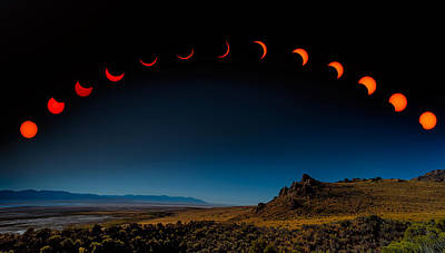 Photograph - Eclipse Pano by Dave Koch