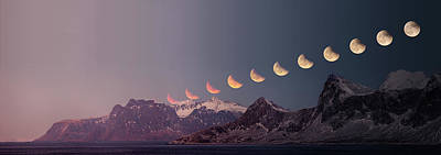 Photograph - Eclipse Panorama by Alex Conu