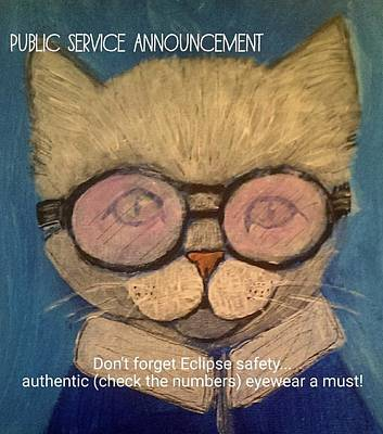 Drawing - Eclipse Public Service Announcement by Lou Belcher