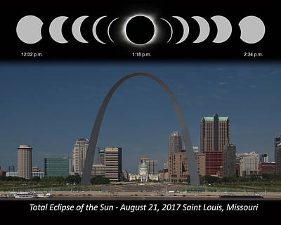 Photograph - Eclipse Sequence by Harold Rau