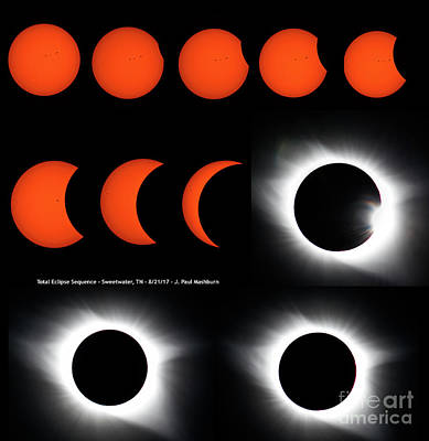 Photograph - Eclipse Sequence by Paul Mashburn