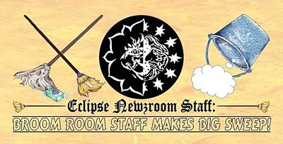 Digital Art - Eclipse Staff 2018 Logo by Dawn Sperry