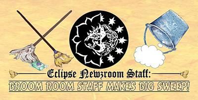 Digital Art - Eclipse Staff 2018 Logo by Dawn Sperry