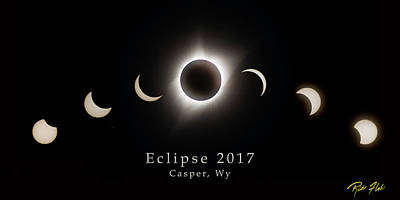 Photograph - Solar Eclipse Collage 1 by Rikk Flohr
