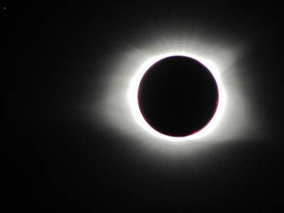 Photograph - Eclipse Totality 001 by Chris Mercer