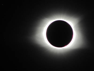 Photograph - Eclipse Totality 002 by Chris Mercer