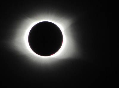 Photograph - Eclipse Totality 003 by Chris Mercer
