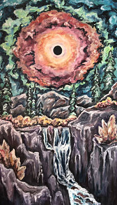 Painting - Eclipse- When The Sun Goes Dark by Cheryl Pettigrew