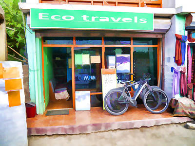 Eco-tourism Painting - Eco Travel Company by Lanjee Chee
