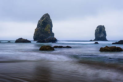 Photograph - Ecola Beach by John Gilbert
