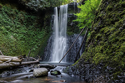 Photograph - Ecola Falls No.1 by Margaret Pitcher