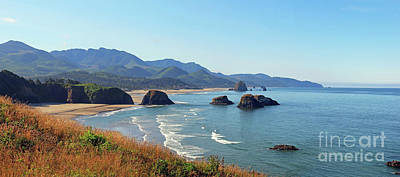 Photograph - Ecola State Park Panorama 3055 3056 by Jack Schultz