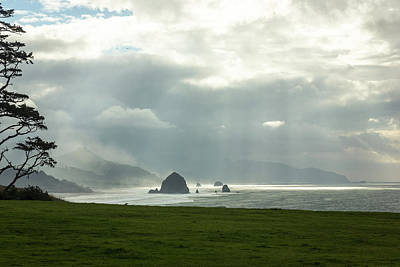 Photograph - Ecola Sunrays by Jason Clarke