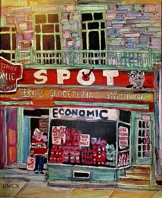 Laurier Avenue Painting - Economic On Laurier by Michael Litvack