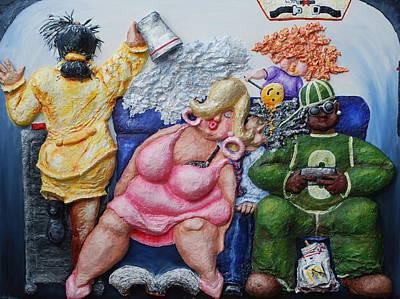 Economy Class Art Print by Alison  Galvan