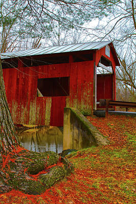 Photograph - Ecther Covered Bridge Near Catawissa, Pa by Jeff Kurtz