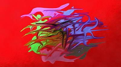 Ectoplasm Digital Art - Ectoplasm Of Hummingbird Powder by Peterson Dessalines
