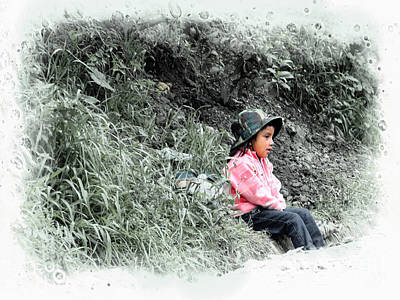 Photograph - Ecuador Kids 1096 by Al Bourassa