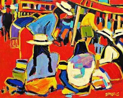 Ecuador Street Market Art Print by Brian Simons