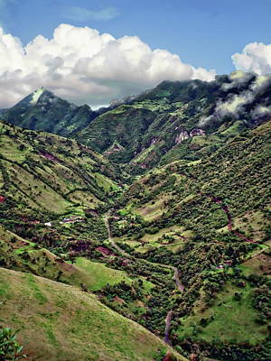 Photograph - Ecuadorian Landscape by Anthony Dezenzio