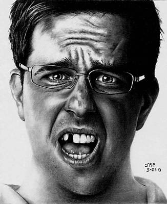 Drawing - Ed Helms  by Rick Fortson
