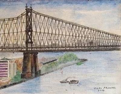 Ed Koch Queensboro Bridge Original by Carl Frankel