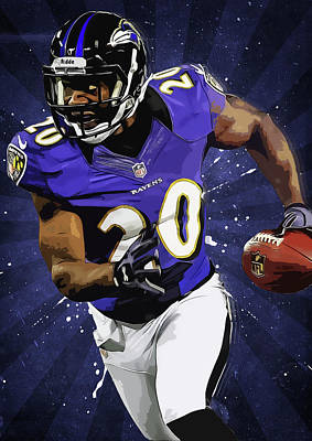 Ed Reed Art Print by Semih Yurdabak