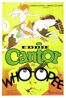 Classic Film Star Mixed Media - Eddie Cantor In Whoopee 1930 by Mountain Dreams