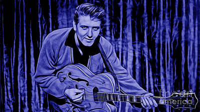 Poster Mixed Media - Eddie Cochran Collection by Marvin Blaine