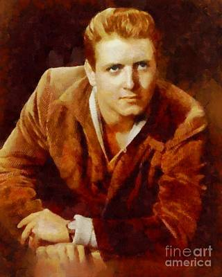 Rock And Roll Royalty-Free and Rights-Managed Images - Eddie Cochran, Vintage Music Legend by Sarah Kirk