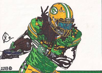 Eddie Lacy 2 Art Print by Jeremiah Colley