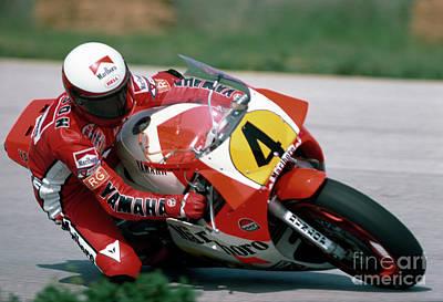 Eddie Lawson. 1984 Nations Motorcycle Grand Prix Art Print by Oleg Konin