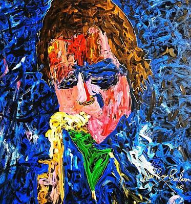 Painting - Eddie Money Still Rocks by Neal Barbosa