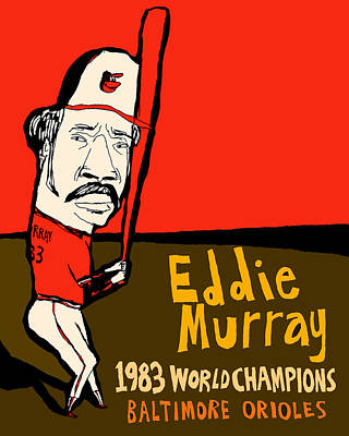 Oriole Painting - Eddie Murray Baltimore Orioles by Jay Perkins