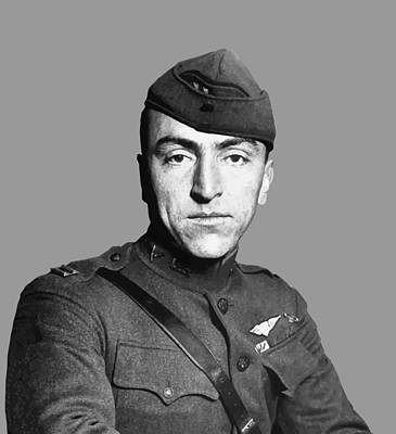 Us Army Fighters Painting - Eddie Rickenbacker by War Is Hell Store