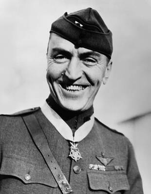 Eddie Rickenbacker Wearing The Medal Of Honor  Art Print by War Is Hell Store