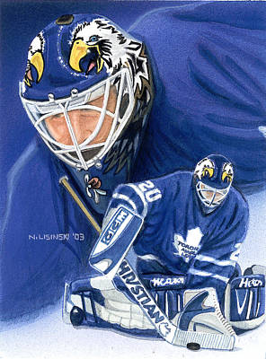 Painting - Eddie The Eagle Belfour by Norb Lisinski